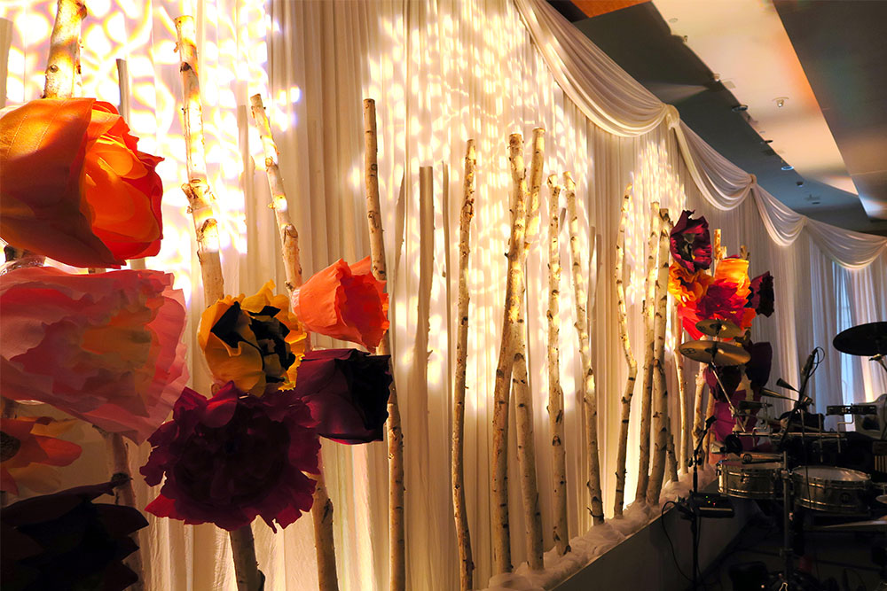 Corporate Event Lighting and Backdrop