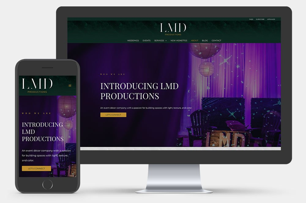 LMD Productions - About Page
